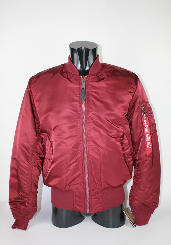 ALPHA BOMBER BORDEAUX