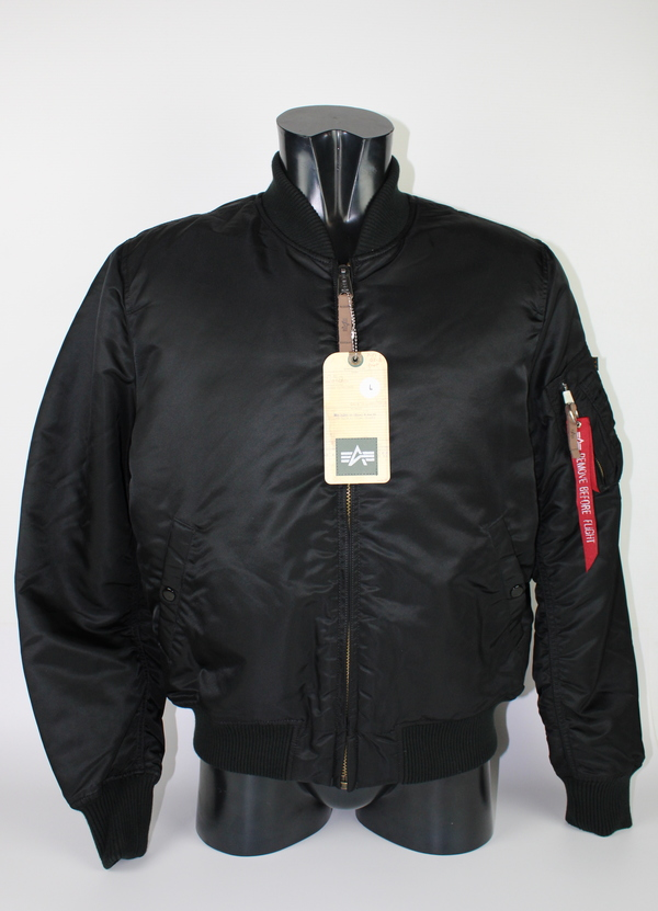 ALPHA BOMBER BLACK SLIM