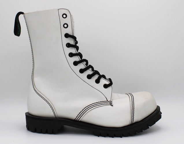 GETTA GRIP 10 EYE BOOT WHITE